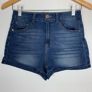 REFUGE BLUE DENIM SHORTS